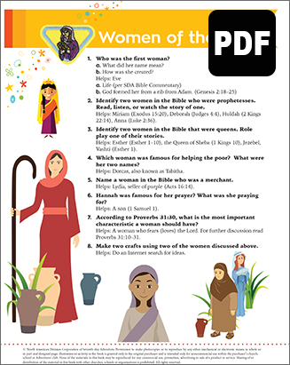 Multilevel Women of the Bible Award - PDF Download