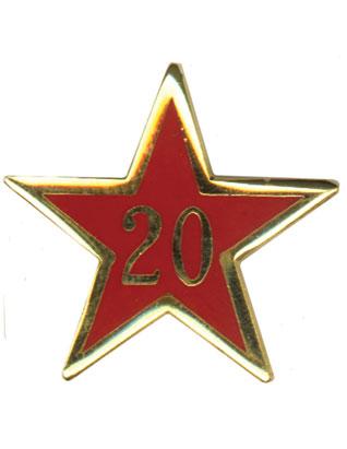 Estrella de Años de Servicio - Veinte Años