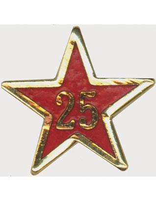 Estrella de Años de Servicio - Veinticinco Años
