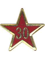 Service Star Pin - Year Thirty
