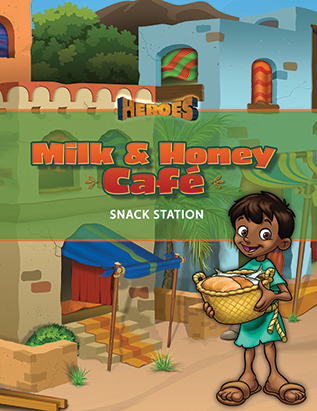 Heroes VBS Milk & Honey Cafe Guide (Snack Station)