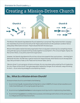 Mission-Driven Church Leader's Orientation Guide