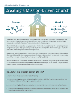 Mission Driven Church Orient/leaders