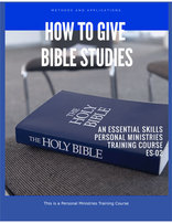 How to Give Bible Studies