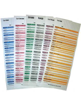 Pathfinder Class Wall Charts (Set of six)