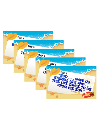 Destination Paradise VBS - Memory Verse Posters (set of 5)