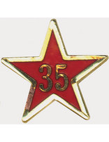 Service Star Pin - Year Thirty-Five