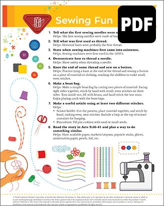 Builder Sewing Fun Award - PDF Downl