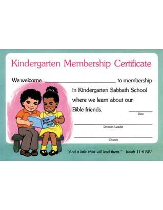 Kindergarten Enrollment Certificate (10)
