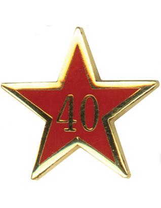 Estrella de Años de Servicio - Cuarenta Años