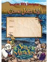 Sea of Miracles VBX Postcards - Church Invites (Pkg of 100)
