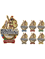2019 General Conference Oshkosh Trading Pin Set of 7