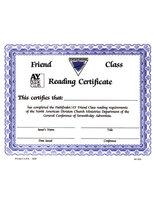 Friend Reading Certificate