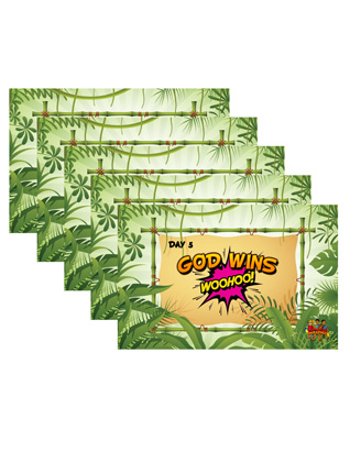 Destination Paradise VBS - Password Combination Posters (set of 5)