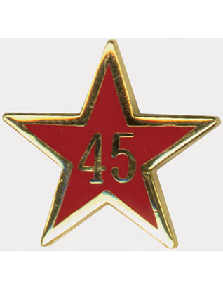 Service Star Pin - Year Forty-Five