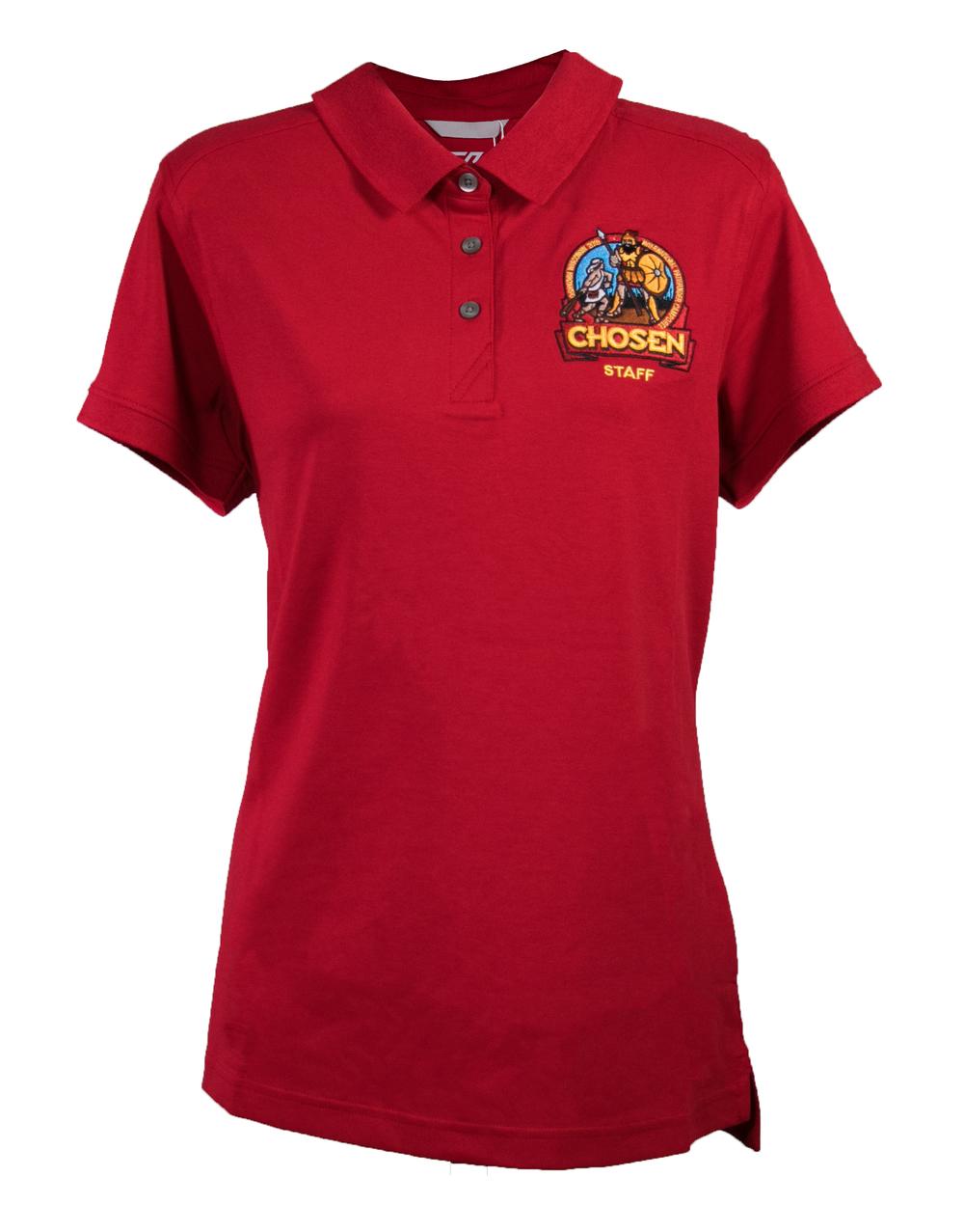 Chosen Women's Staff Polo - Red
