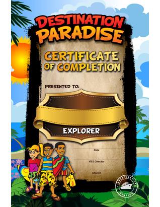 Destination Paradise VBS - Certificate of Attendance (10)