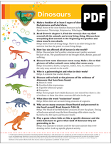 Multilevel Dinosaurs Award - PDF Download