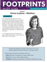 Footprints for Parents & Mentors Study Guide Lesson 1 - 10 copies