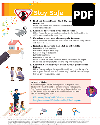 Multilevel Stay Safe Award - PDF Download