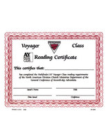Voyager Reading Certificate