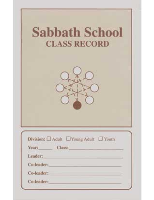 Adult Sabbath School Class Record Booklet