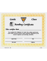 Guide Reading Certificate