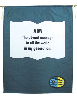 Adventist Youth Aim Banner (English)