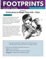 Footprints for Parents & Mentors Study Guide Lesson 3 - 10 copies