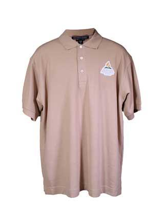 Adventist Logo Men's Polo Shirt, Stone
