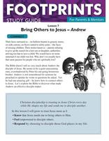 Footprints for Parents & Mentors Study Guide Lesson 7 - 10 copies