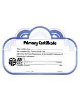 Primary Book Club Certificate