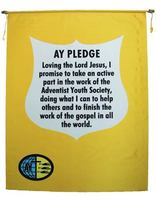 Adventist Youth Pledge Banner (English)