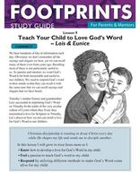 Footprints for Parents & Mentors Study Guide Lesson 9 - 10 copies