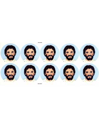 Face of Jesus Stickers
