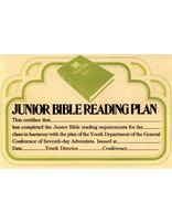 Junior Bible Plan Certificate