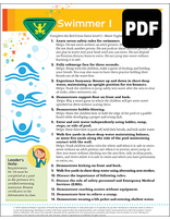 Busy Bee Swimmer I Award - PDF Download