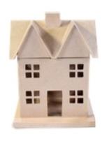 Maison en papier mâché