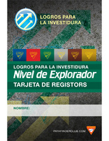 Explorer Record Card - Investiture Achievement (Spanish)
