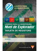 Tarjeta de Registros Nivel de Explorador - Logros para la Investidura