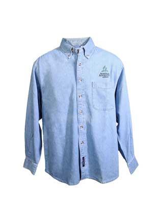 Adventist Logo Men's Denim Long Sleeve Shirt