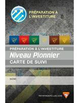 Pathfinder Investiture Achievement Record Card - Ranger - French