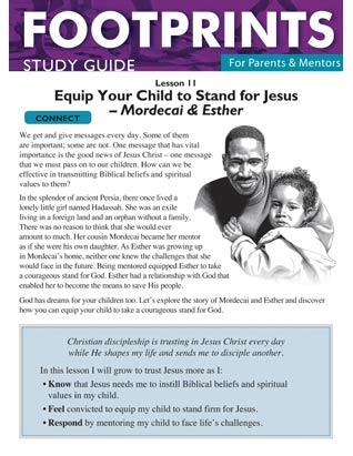 Footprints for Parents & Mentors Study Guide Lesson 11 - 10 copies