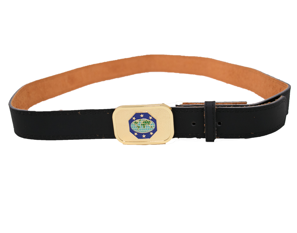 Master Guide Black Leather Belt Strap & Buckle