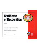 Pathfinder Leadership Award Achievement Certificate