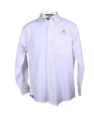Adventist Logo Men's White Oxford Long Sleeve Shirt