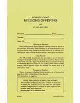 Sabbath School Mission Offering/Class Record Envelope