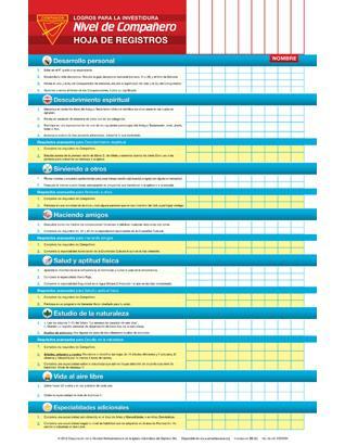 Companion Record Chart - Investiture Achievement (Spanish)