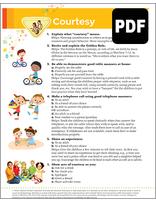 Sunbeam Courtesy Award – PDF Download