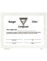 Ranger Achievement Certificate
